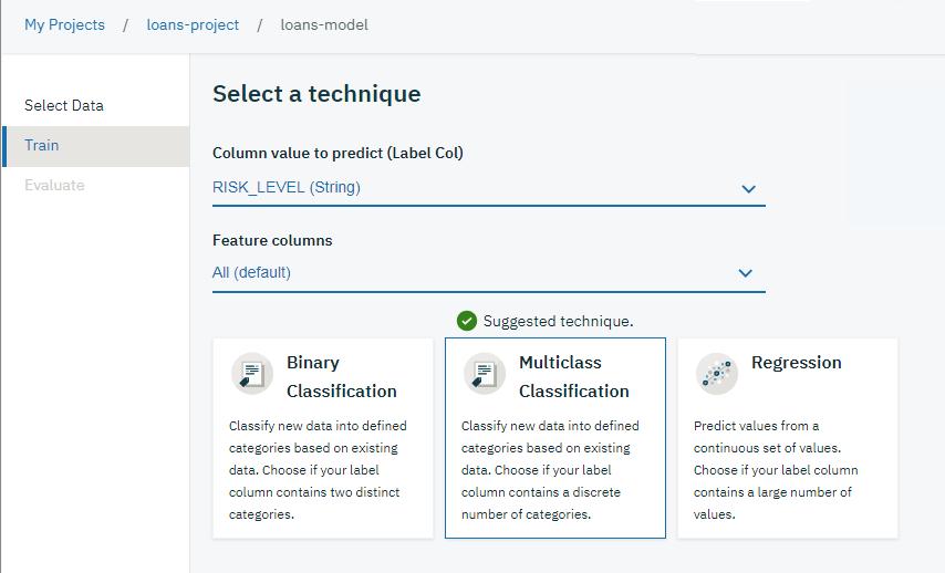 Model builder - IBM Watson