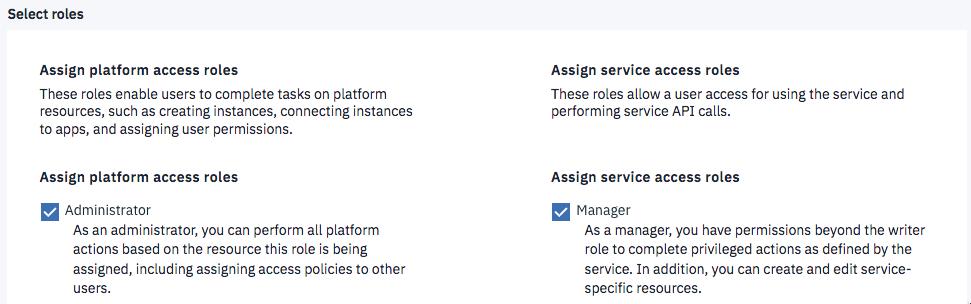 Setting up additional account users - IBM Watson